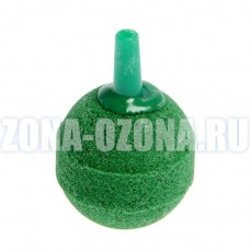 Распылитель воздуха для аквариума, озонатора, шар зелёный, 26*26*4 мм
