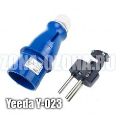 Вилка штепсельная Yeeda Y-023, 220 вольт, 2P+E, защита IP44. Купить недорого в Москве, с доставкой по России.