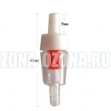 Пластиковый, обратный клапан, ∅ 4 мм. Для защиты аквариумного насоса, воздушного компрессора.